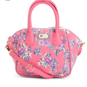 New Luv Betsey Johnson Pink Floral Mini Satchel